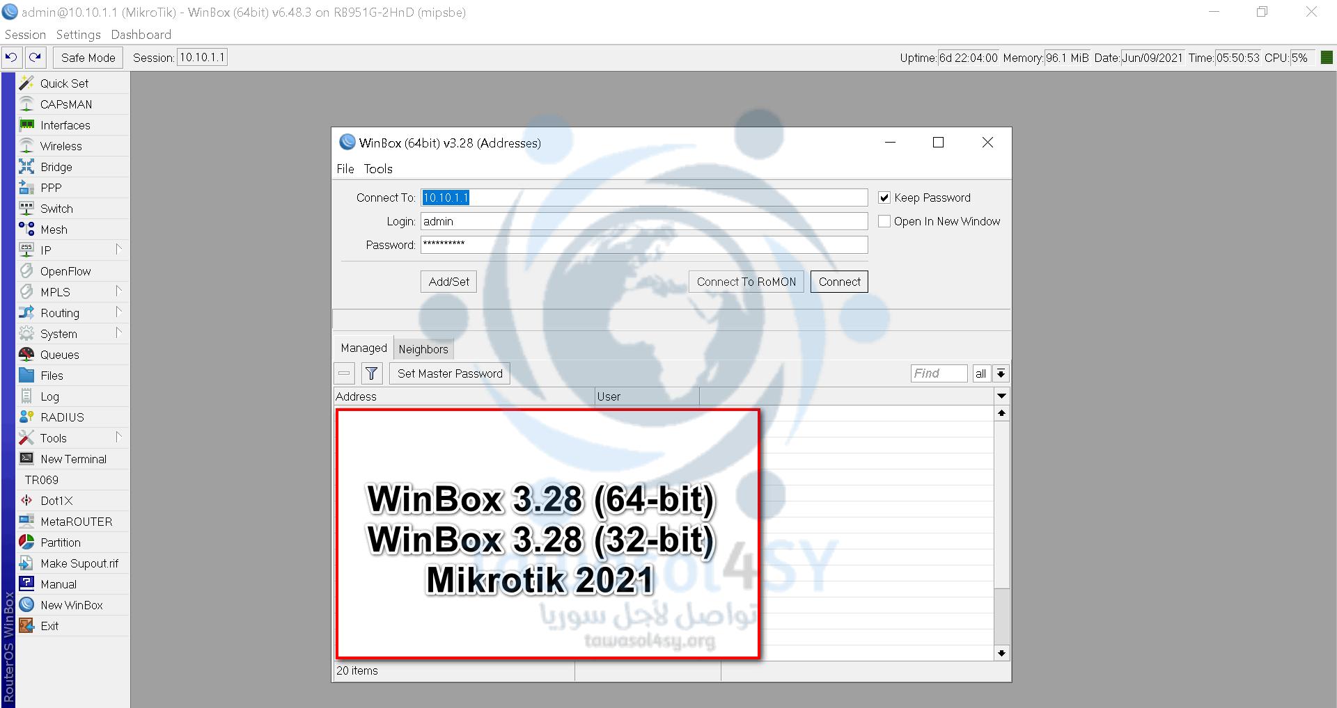 WinBox 3.28 (64-bit) WinBox 3.28 (32-bit)